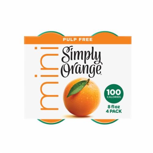 Simply Orange Mini Pulp Free Juice Drink Perspective: top