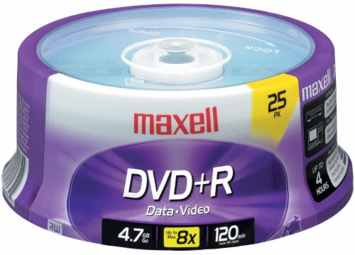 Maxell DVD+R Spindle Perspective: top