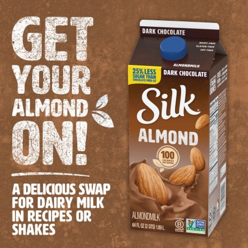 Silk Dark Chocolate Almondmilk Perspective: top