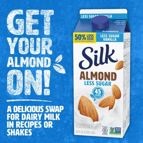 Silk® Less Sugar Vanilla Almondmilk Perspective: top