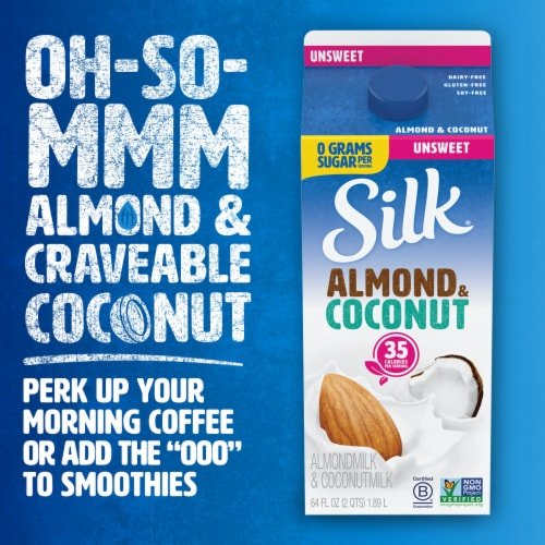 Silk Unsweetened Almond & Coconut Milk Blend Perspective: top
