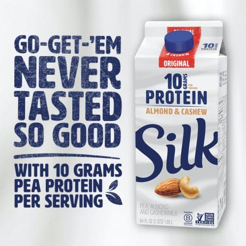 Silk Original Almond & Cashew Protein Milk Perspective: top