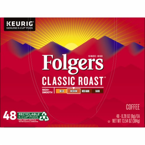 Folgers Classic Roast Coffee K-Cup Pods Perspective: top
