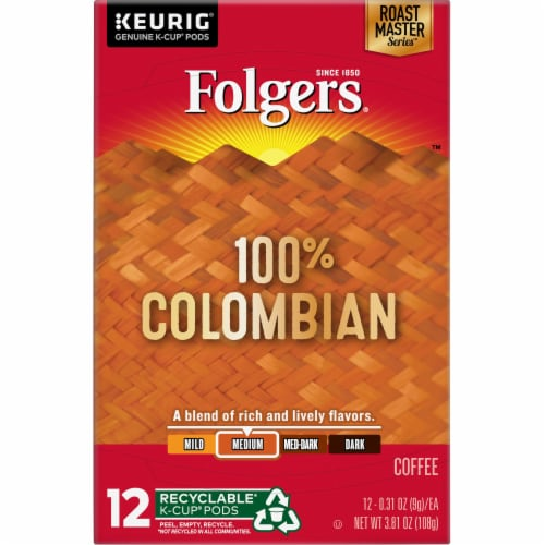 Folgers Gourmet Lively Colombian K-Cup Pods Perspective: top
