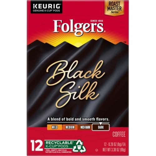 Folgers Gourmet Selections Black Silk Dark Roast Coffee K-Cup Pods Perspective: top