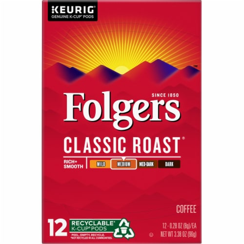 Folgers Gourmet Classic Roast K-Cup Pods Perspective: top
