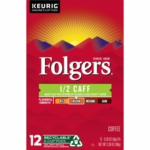 Folgers Half Caff Coffee K-Cup Pods Perspective: top
