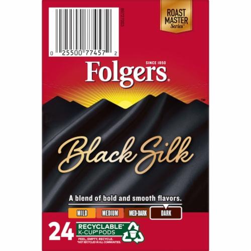 Folgers Black Silk Dark Roast Coffee K-Cup Pods Perspective: top