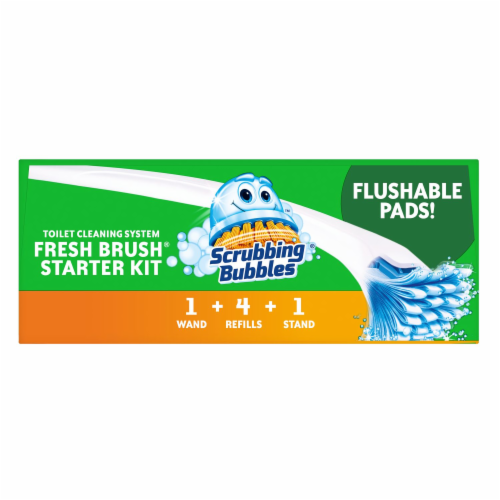 Scrubbing Bubbles Fresh Brush Toilet Cleaning System Starter Kit Perspective: top