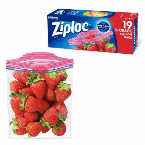 Ziploc® Gallon Storage Bags Perspective: top