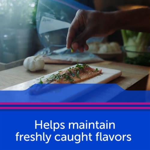 Ziploc® Quart Freezer Easy Open Tabs Storage Bags Perspective: top