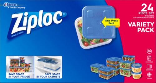 Ziploc Food Storage Container Set Variety Pack Perspective: top