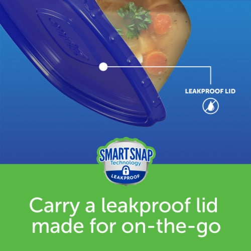 Ziploc® One Press Seal Deep Square Food Storage Containers and Lids Perspective: top