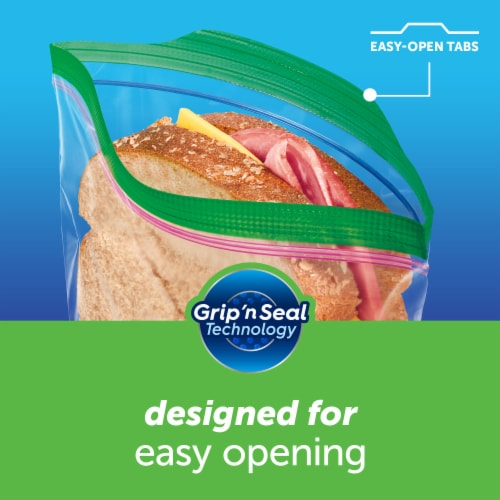 Ziploc Zipper Sandwich Bags Perspective: top