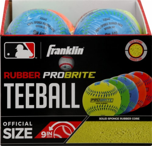 Franklin MLB Neon Rubber Teeball - Assorted Perspective: top