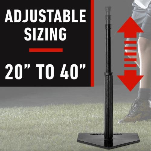 Franklin MLB® Heavy Duty Batting Tee - Black Perspective: top