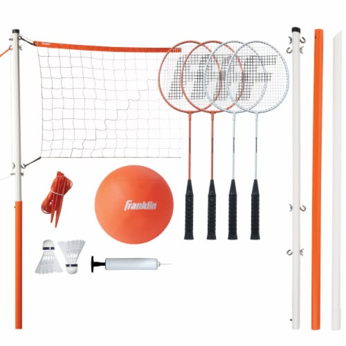 Franklin Volleyball and Badminton Set Perspective: top