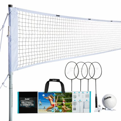 Franklin Professional Volleyball and Badminton Set Perspective: top