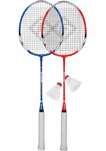 Franklin Badminton Racquet Set - Red/Blue Perspective: top