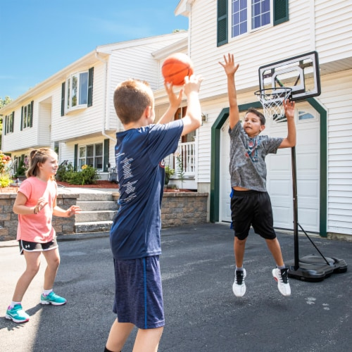 Franklin Adjustable Basketball Hoop - Black/White Perspective: top