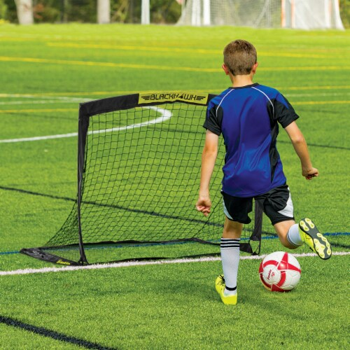 Franklin Blackhawk Soccer Goal - Black/Yellow Perspective: top