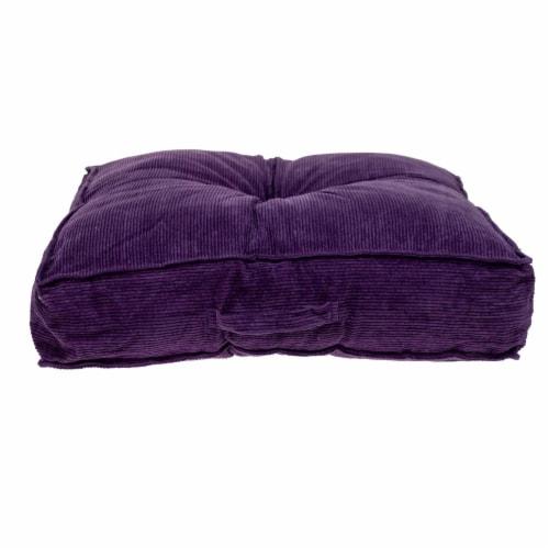 Parkland Collection Alena Transitional Purple Floor Pillow Perspective: top