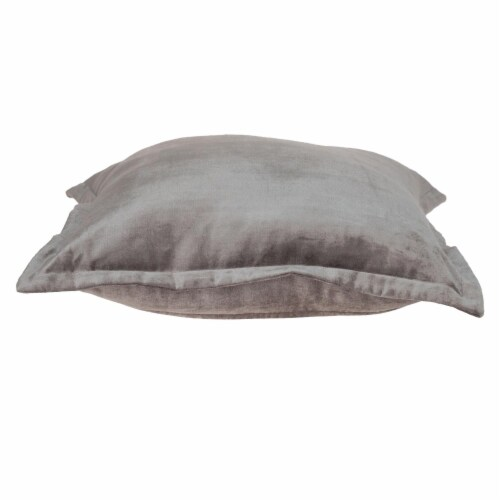 Parkland Collection Agneta Transitional Taupe Throw Pillow Perspective: top