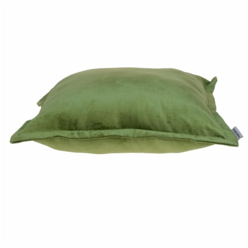 Parkland Collection Agneta Transitional Olive Throw Pillow Perspective: top