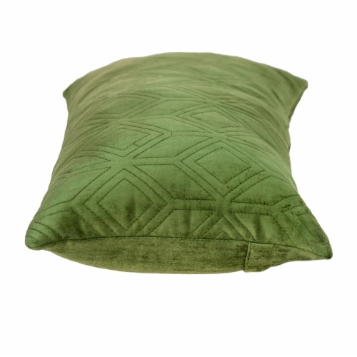 Parkland Collection Aleta Transitional Olive Throw Pillow Perspective: top