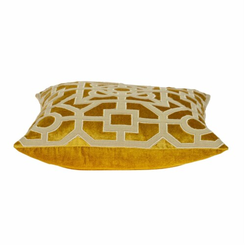Parkland Collection Hazel Transitional Mustard Yellow Throw Pillow Perspective: top