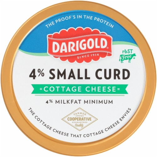 Darigold 4% Small Curd Cottage Cheese Perspective: top