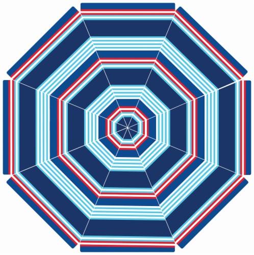 COPA Patio Umbrella - Red/Blue Perspective: top