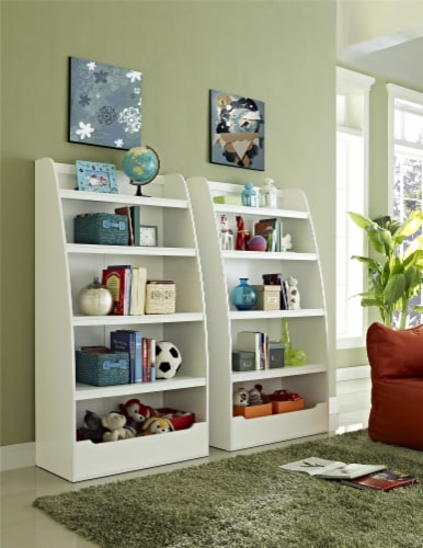 Annabelle Kids' 4 Shelf Bookcase, White Perspective: top