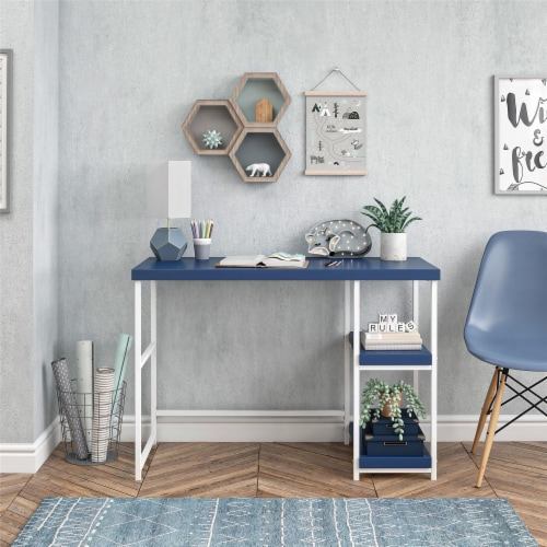 Kimberly Desk with Reversible Shelves Perspective: top