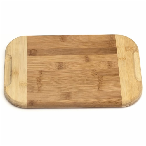 Lipper International Large Versatile Home 2 Toned Kitchen Carving Board, Bamboo Perspective: top