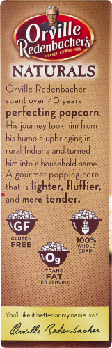 Orville Redenbacher's Naturals Light Classic Butter & Sea Salt Microwave Popcorn Perspective: top