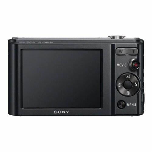 Sony Cyber-shot Dsc-w810 Digital Camera Black Perspective: top