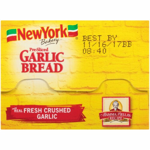 Nre York Bakery Homestyle Garlic Loaf Perspective: top