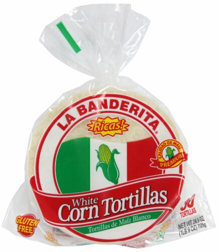 La Banderita White Corn Tortillas 30 Count Perspective: top