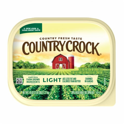 Country Crock Light Vegetable Oil Spread Perspective: top