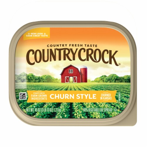 Country Crock Churn Style Vegetable Oil Spread Perspective: top