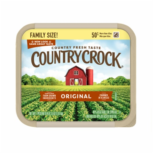 Country Crock Original Vegetable Oil Spread Family Size Perspective: top