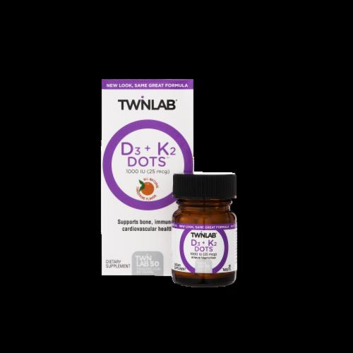 Twinlab D3 K2 Dots 1000 Vitamins Tablets Perspective: top