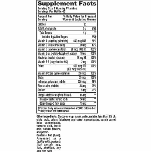 Vitafusion PreNatal Essential Vitamin Gummies 90 Count Perspective: top