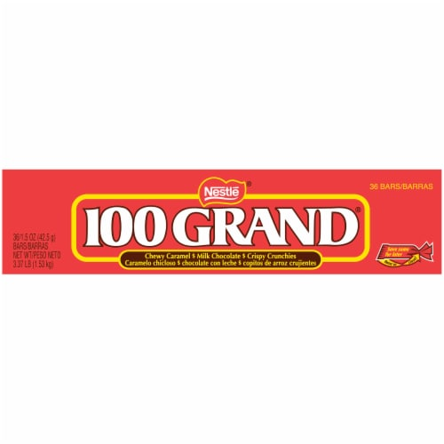 100 Grand Milk Chocolate Candy Bars Perspective: top