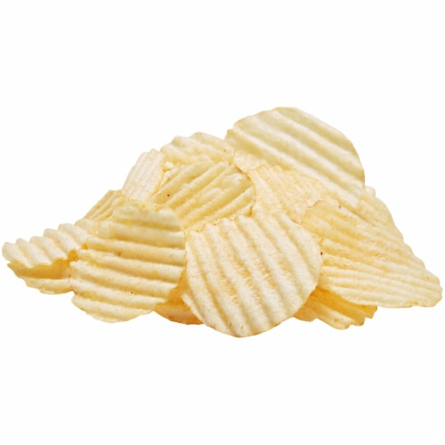 Lay's Wavy Potato Chips Lightly Salted Snacks Bag Perspective: top