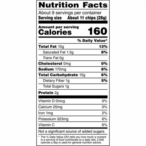 Ruffles Potato Chips Cheddar & Sour Cream Flavor Snacks Perspective: top