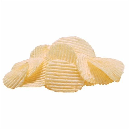 Ruffles® Simply Sea Salted Reduced Fat Potato Chips Perspective: top