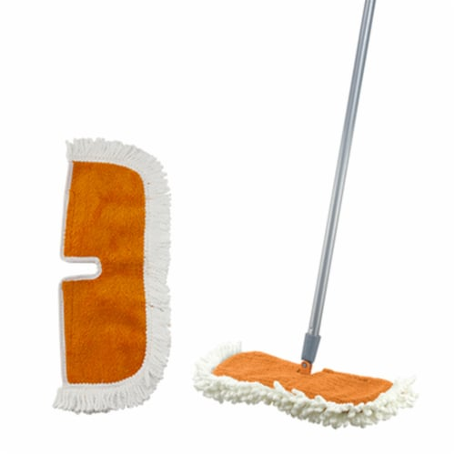 Casabella Microfiber Single Refill Cleaning Head for Flip Floor Duster Perspective: top
