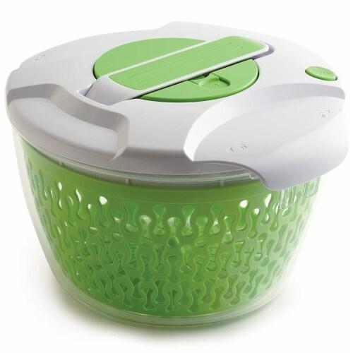 Norpro 6.8 Quart Deluxe Removable Colander Strainer Herb Vegetable Salad Spinner Perspective: top